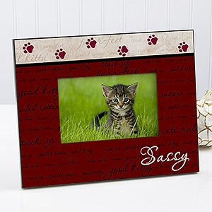personalized cat picture frame good kitty 6552