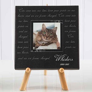 Paw Prints On Our Hearts Photo Pet Memorial Canvas Art - 6563