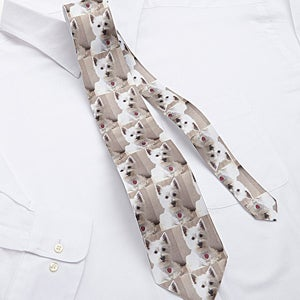 pet photo personalized ties for him