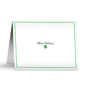 Four Leaf Clover Personalized Note Cards - 6586
