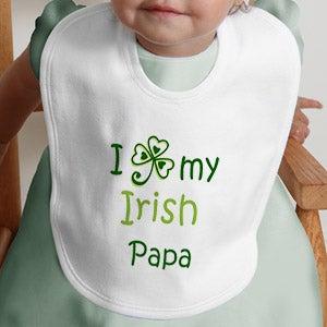 Personalization Mall Irish Love Personalized Shamrock Baby Bib at Sears.com