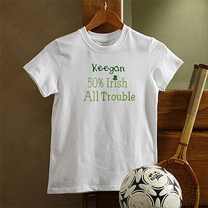 Personalization Mall Part Irish, All Trouble Personalized Kids T-Shirt at Sears.com