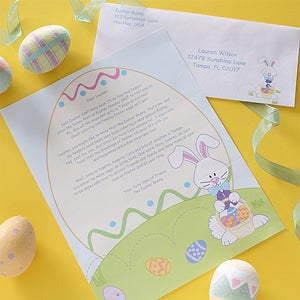 personalized letter from the easter bunny