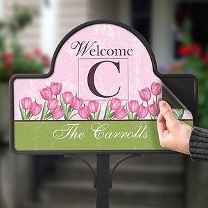 Personalized Spring Tulip Decorative Yard Stake - 6613