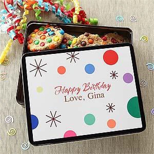 Birthday Treats Personalized Gift Tins - 6617