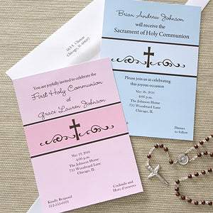 First Communion Prayers Personalized Communion Invitations - 6625