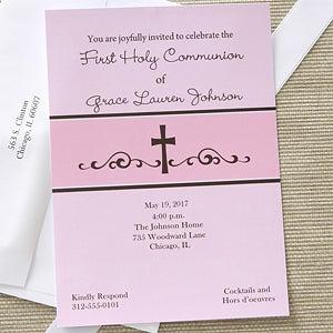 First Communion Prayers Personalized Communion Invitations - 6625