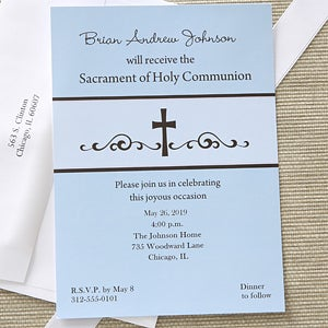 Precious prayers personalized boys communion invitations first first communion prayers personalized communion invitations 6625 solutioingenieria Choice Image