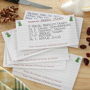 Happy Marriage Personalized Recipe Cards - 6643