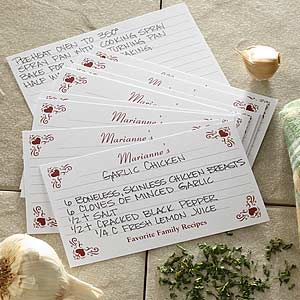 Family Favorites Printed Recipe Cards - 6645