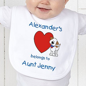 Personalization Mall My Heart Belongs To Personalized Baby Bib - Puppy at Sears.com