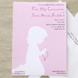 Blessed Occasion Personalized First Communion Invitations - 6658