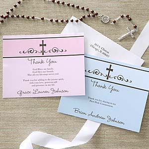 Religious Prayer Personalized Thank You Cards - 6665