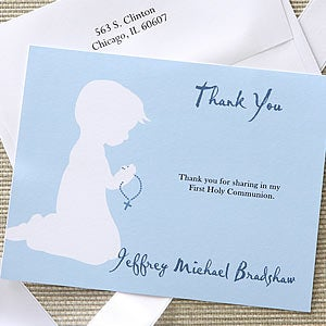 Blessed Occasion First Communion Thank You Cards - 6668