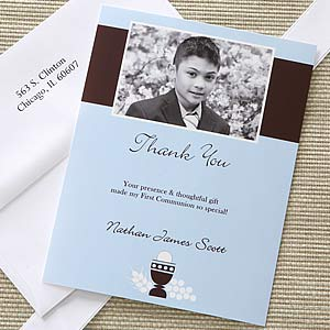Bless This Child Photo First Communion Thank You Cards - 6669
