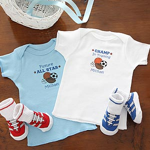 Personalization Mall All Star Sports Personalized Baby Clothes Set for Boys at Sears.com