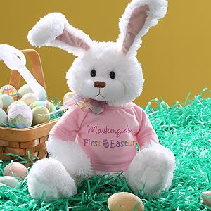 Personalization Mall Easter Gifts -  Personalized Stuffed Easter Bunny Rabbit - Baby Girl's First Easter at Sears.com
