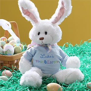 Personalization Mall Easter Gifts -  Personalized Stuffed Easter Bunny Rabbit - Baby Boy's First Easter at Sears.com