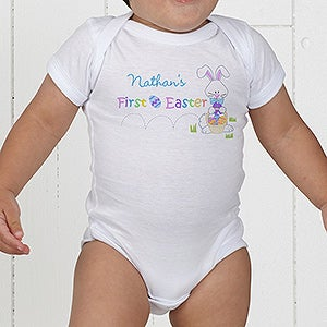 Babys first easter personalized baby clothes babys first easter personalized baby clothes 6702 negle Choice Image