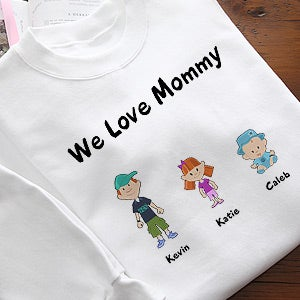 Personalized Family Cartoon Characters Clothing - 6703