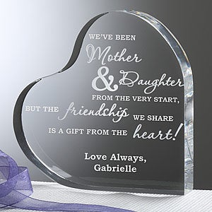 Mother & Daughter Keepsake Heart Personalized Gift - 6710