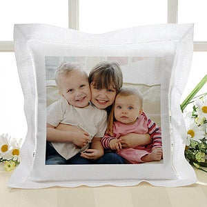 Personalized Linen Photo Pillow - 6713