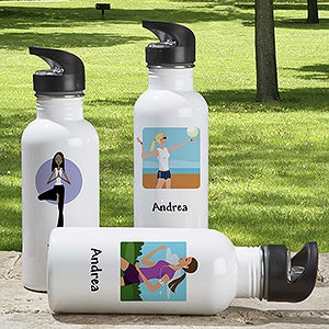 Ladies Personalized Aluminum Water Bottle - 6716