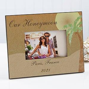 Wedding Gift Best Selling Items Honeymoon Gift Personalized Exuma Bay Honeymoon Picture Frame Exuma Bay Honeymoon Wedding Photo Frame