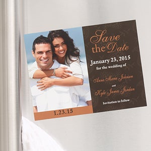 Save The Date Wedding Photo Cards & Magnets - Paisley Design - 6734