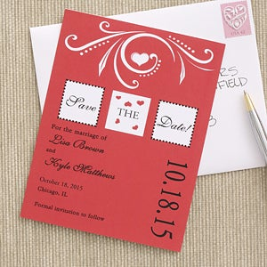 One Love Personalized Save The Date Cards & Magnets - 6740