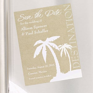 Destination Wedding Save The Date Magnets Tropical Palm Trees Wedding Gifts