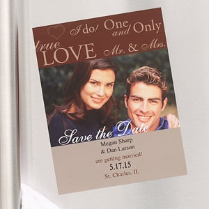 Personalized Save The Date Photo Wedding Cards & Magnets - 6744