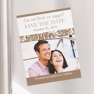 Engagement Photo Save The Date Wedding Cards & Magnets - 6751