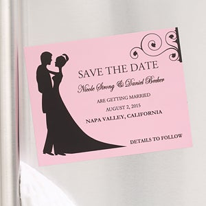 Bride & Groom Save The Date Cards & Magnets - 6753