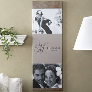 Wedding Photos Personalized Canvas Art - This Day Forward - 6757
