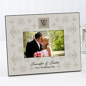 Initial Monogram Personalized Picture Frames - 6759