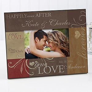 Romantic Personalized Picture Frame For Couples - Love Is A Promise  - 6760