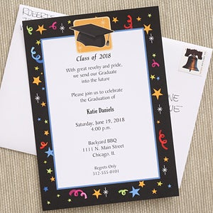 printed graduation party invitations lets celebrate 6770