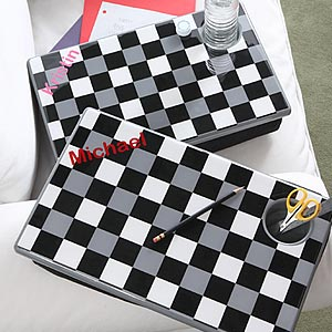 Personalization Mall Black & White Checkered Personalized Lap Desk For Kids at Sears.com