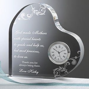 Dear Mom Personalized Heart Clock Mother's Day Gift - 6784
