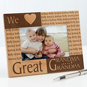 personalized picture frames great grandparents 4x6 gifts for
