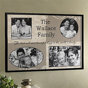Photo Collage Personalized Canvas Artwork - 4 Pictures - 6793