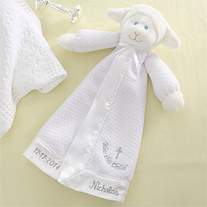 Bless This Child Christian Lamb Personalized Baby Blanket Doll - 6874