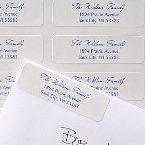 Family Return Address Labels - Signature Script - 6898