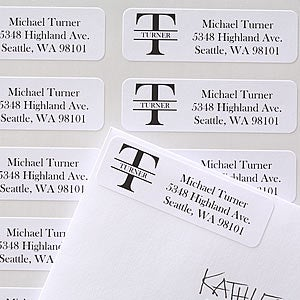 Personalization Mall Name & Monogram Personalized Address Labels at Sears.com
