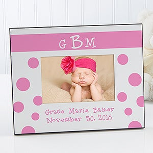 Baby Girl Personalized Picture Frames with Monogram - 6909