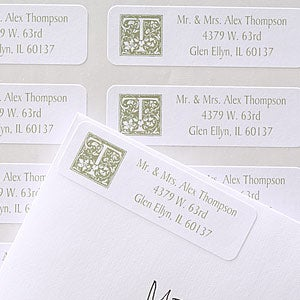Floral Monogram Multipurpose Address Labels - 6915