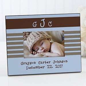 Baby Boy Personalized Picture Frames with Monogram - 6916