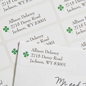 Four-Leaf Clover Personalized Return Address Labels - 6934