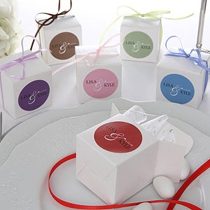 Custom Name Personalized Wedding Favor Boxes - 6941